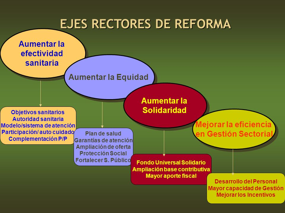 EJES RECTORES DE REFORMA