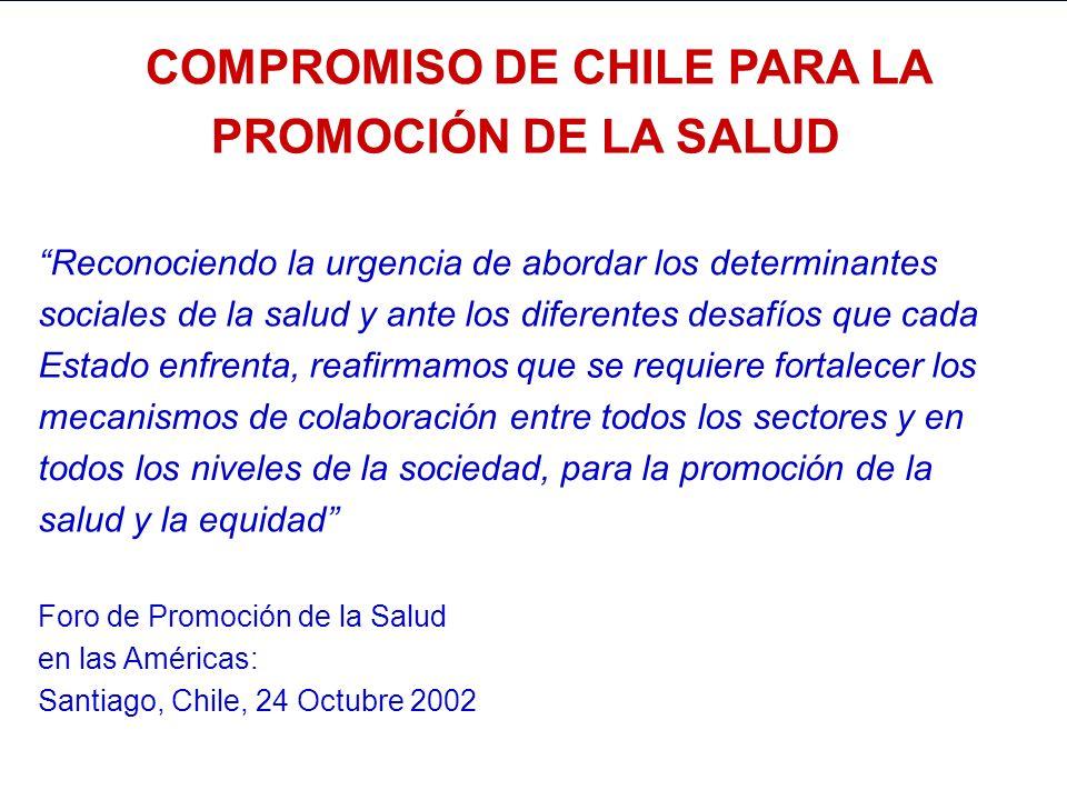 COMPROMISO DE CHILE PARA LA COMPROMISO DE CHILE PARA LA