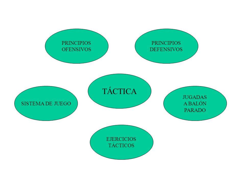 TÁCTICA PRINCIPIOS OFENSIVOS PRINCIPIOS DEFENSIVOS SISTEMA DE JUEGO