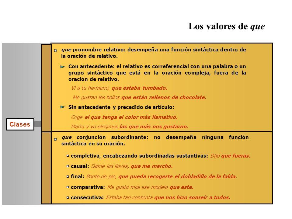 Los valores de que Clases