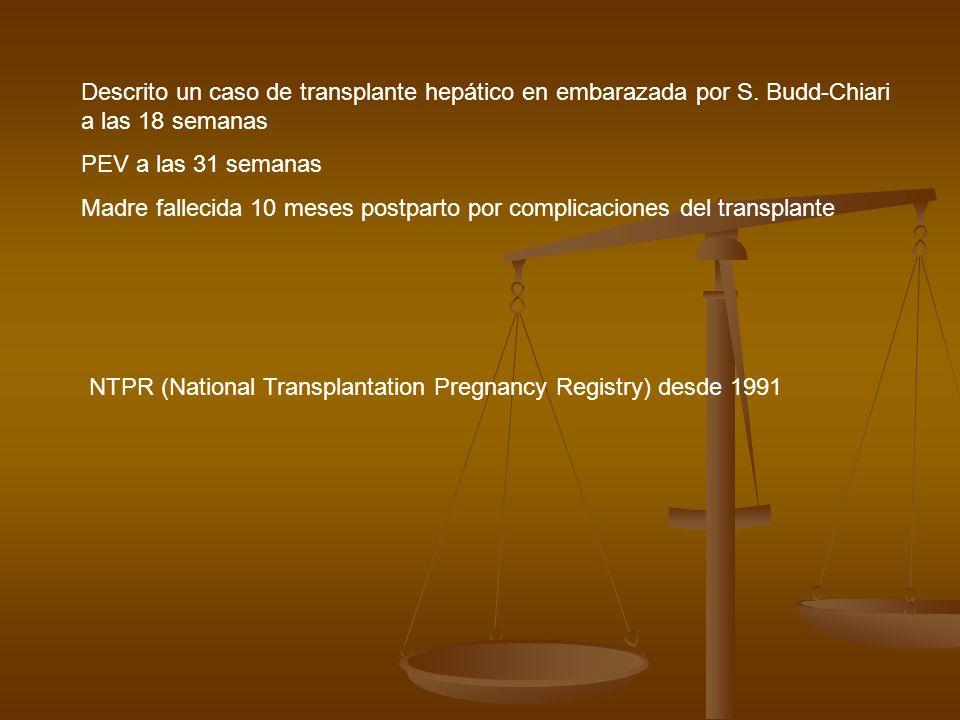 Descrito un caso de transplante hepático en embarazada por S