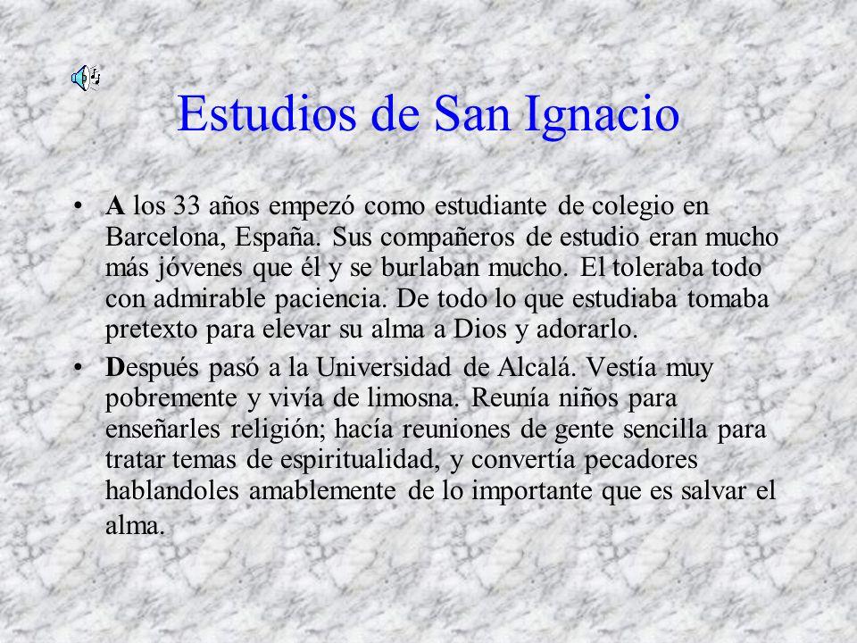 Estudios de San Ignacio