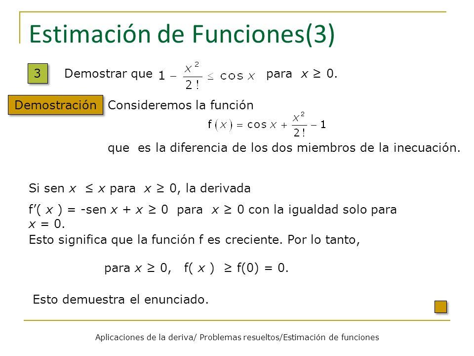 Estimación de Funciones(3)