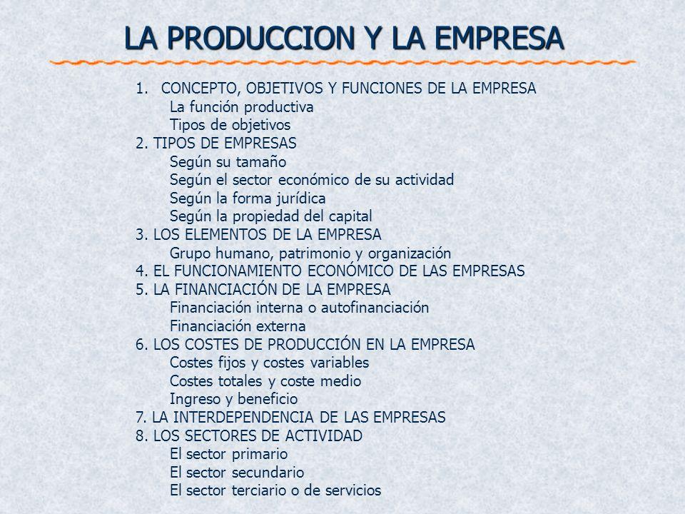 LA PRODUCCION Y LA EMPRESA