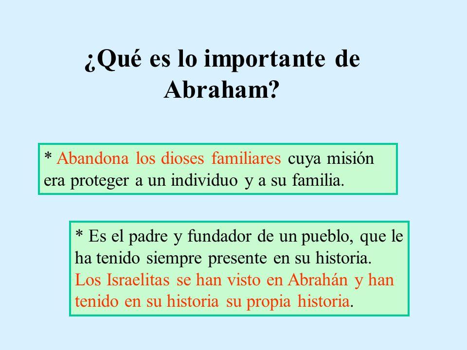 ¿Qué es lo importante de Abraham