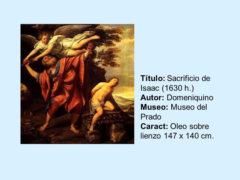 Título: Sacrificio de Isaac (1630 h
