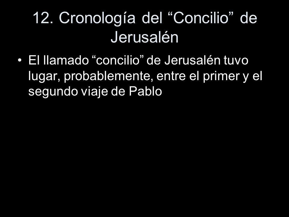 12. Cronología del Concilio de Jerusalén