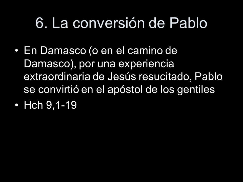 6. La conversión de Pablo