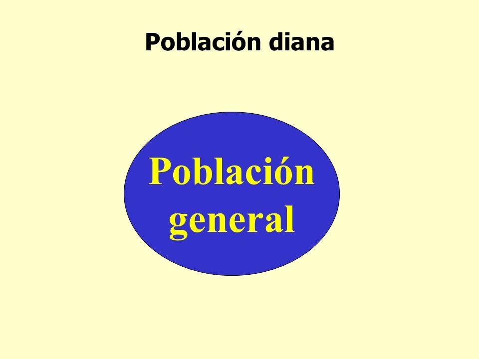 Población diana Población general