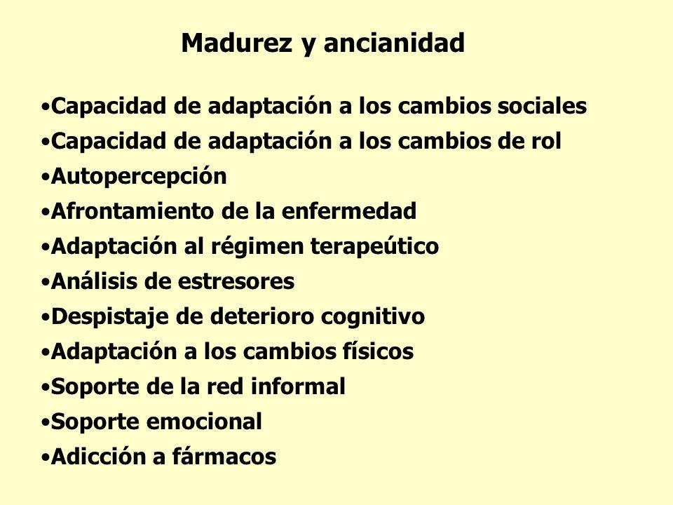 Madurez y ancianidad Capacidad de adaptación a los cambios sociales
