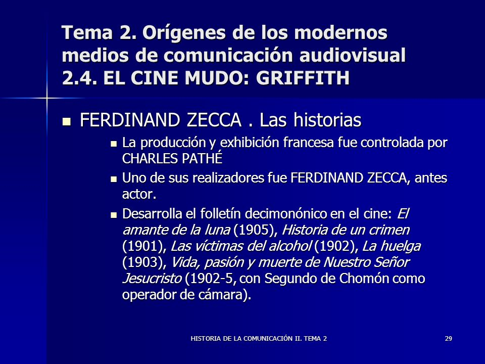 HISTORIA DE LA COMUNICACIÓN II. TEMA 2
