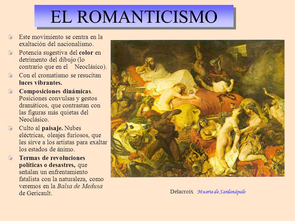 EL ROMANTICISMO Este movimiento se centra en la exaltación del nacionalismo.