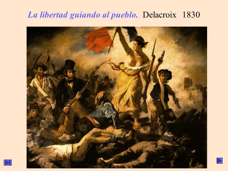 La libertad guiando al pueblo. Delacroix 1830