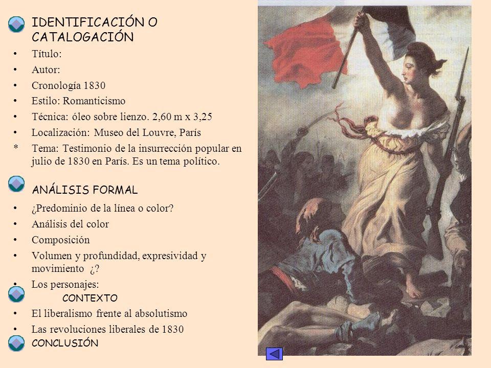 * ANÁLISIS FORMAL Título: Autor: Cronología 1830 Estilo: Romanticismo