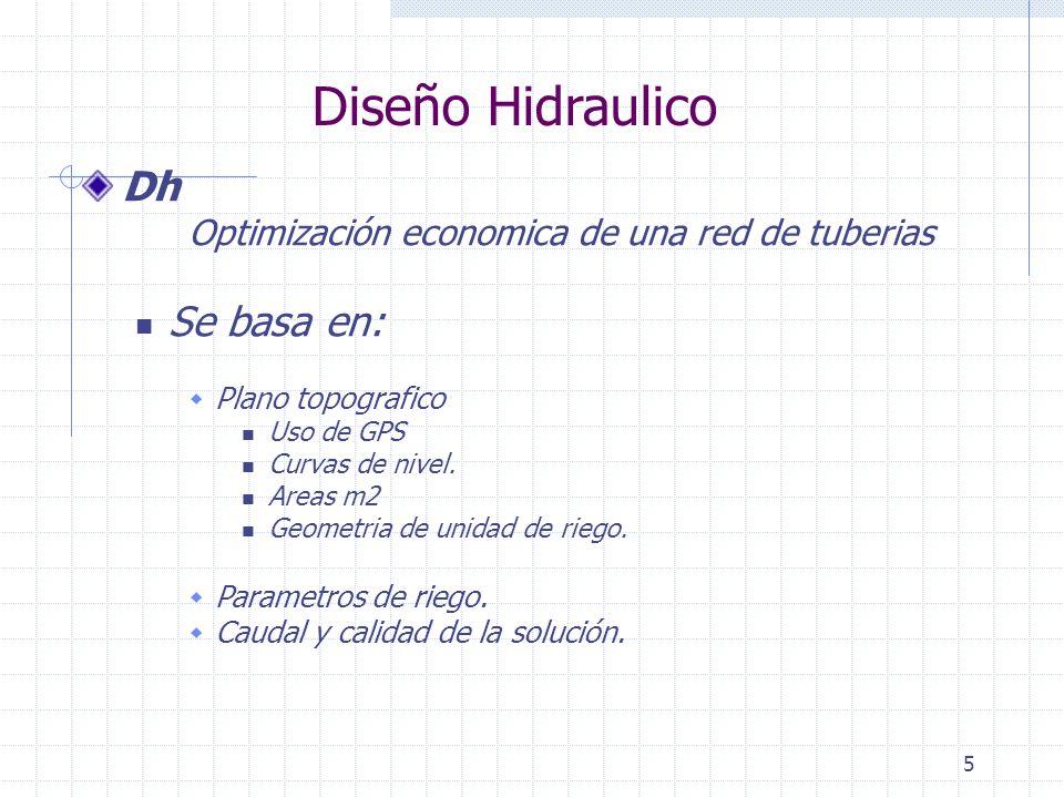 Diseño Hidraulico Dh Se basa en: