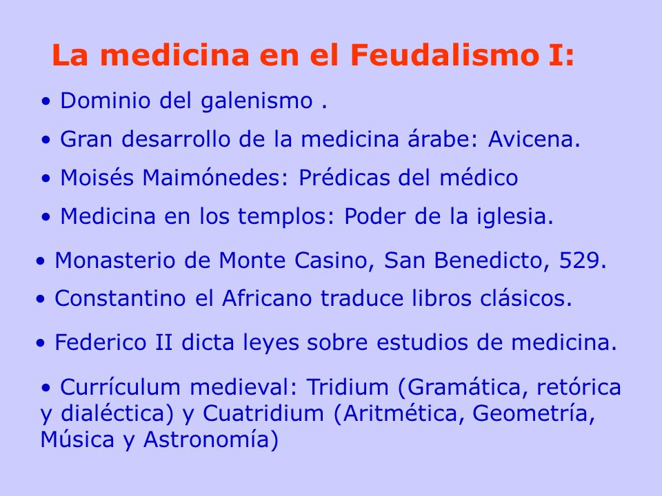 La medicina en el Feudalismo I: