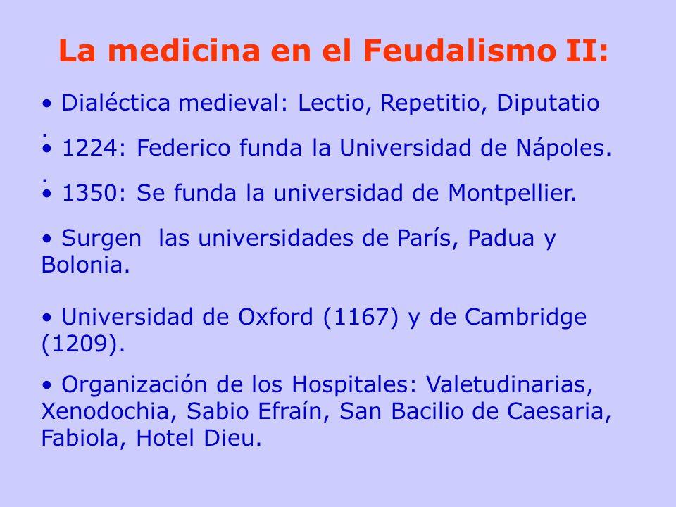 La medicina en el Feudalismo II:
