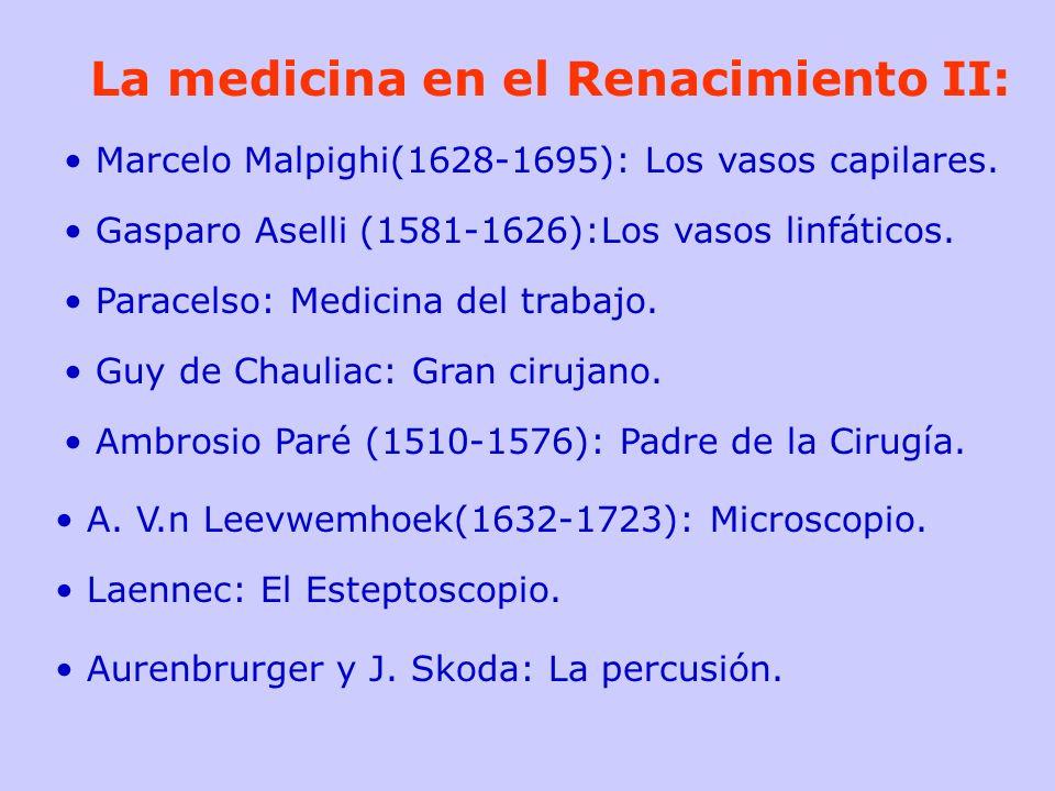 La medicina en el Renacimiento II: