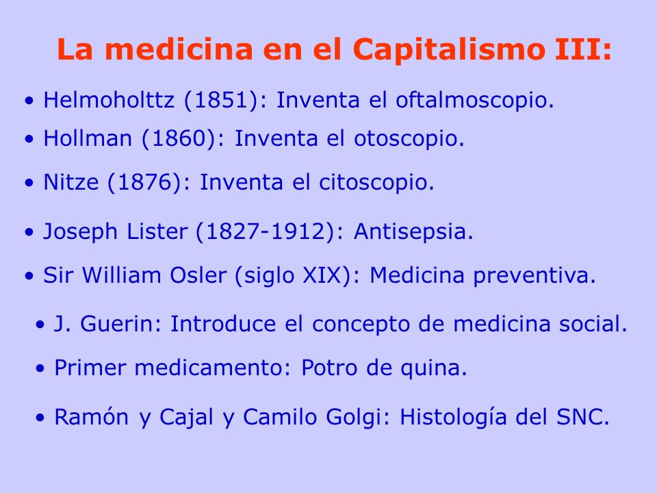La medicina en el Capitalismo III: