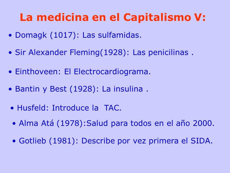 La medicina en el Capitalismo V: