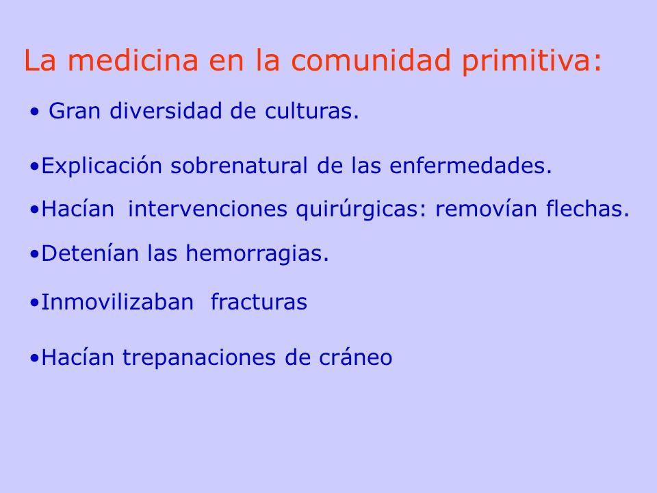 La medicina en la comunidad primitiva: