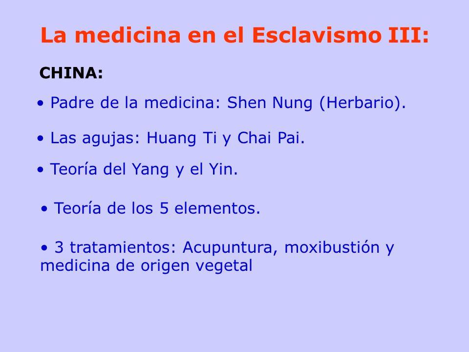La medicina en el Esclavismo III: