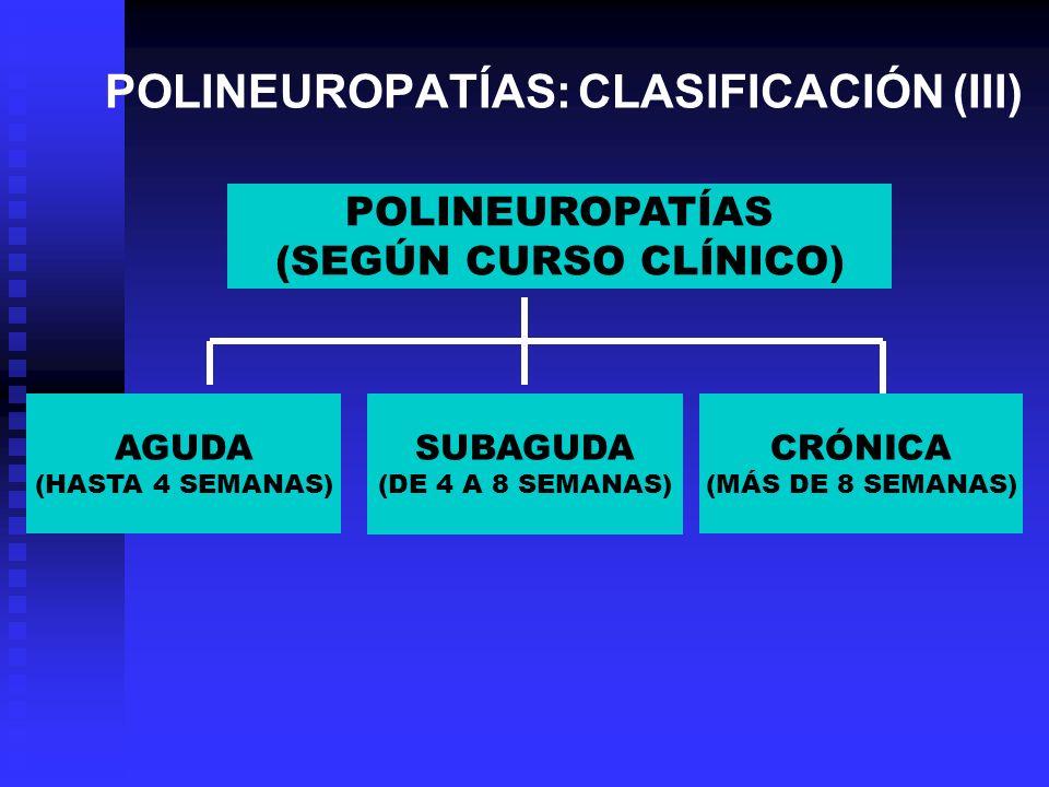 POLINEUROPATÍAS: CLASIFICACIÓN (III)