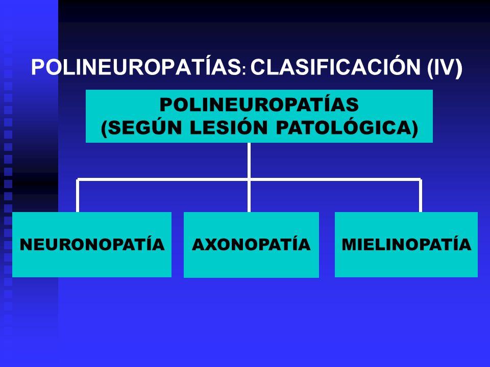 POLINEUROPATÍAS: CLASIFICACIÓN (IV)