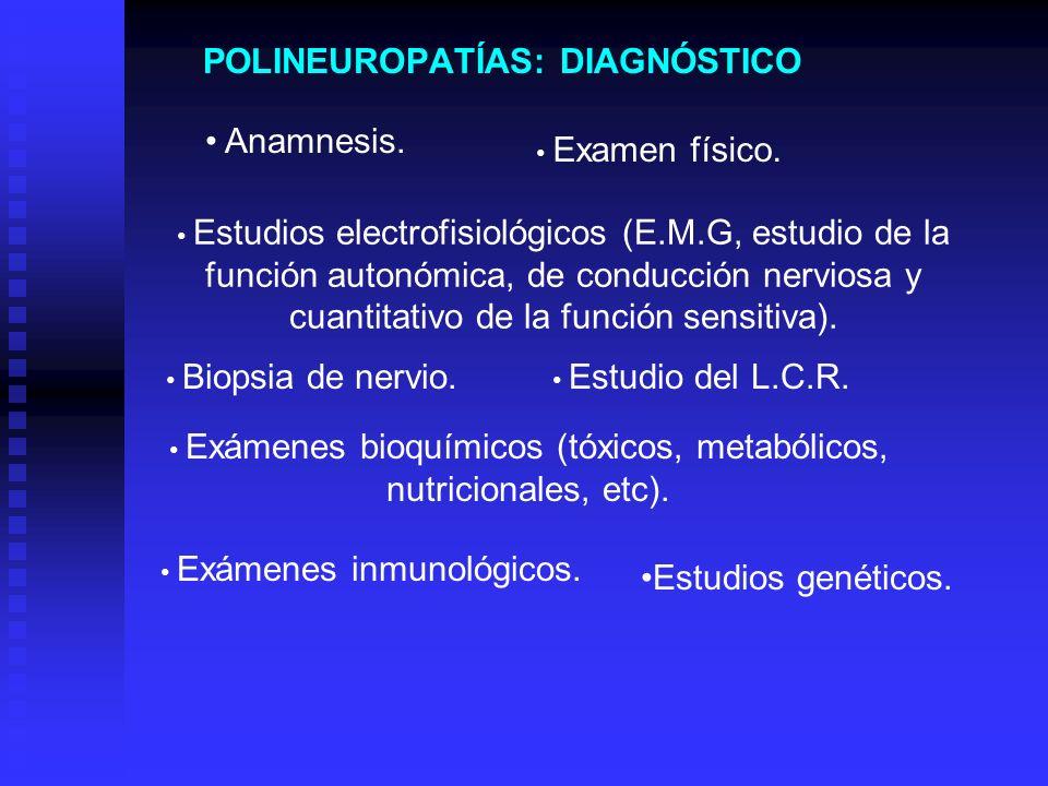 POLINEUROPATÍAS: DIAGNÓSTICO