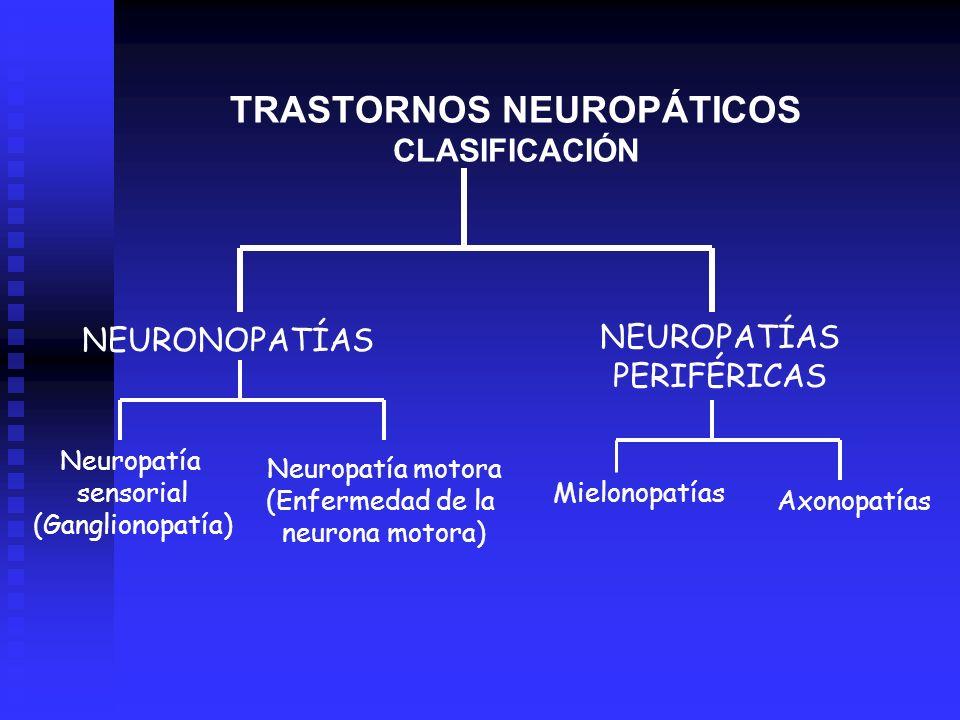 TRASTORNOS NEUROPÁTICOS CLASIFICACIÓN
