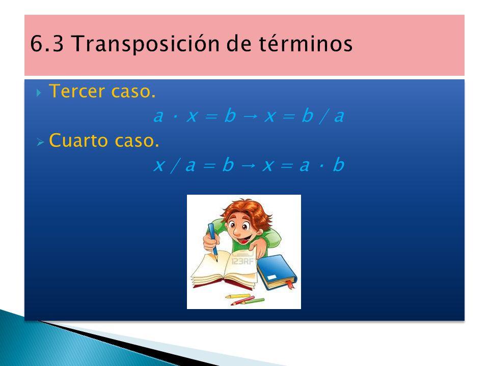 6.3 Transposición de términos