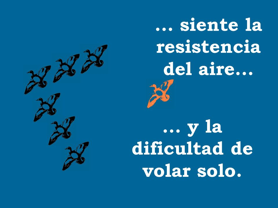 ... siente la resistencia del aire...