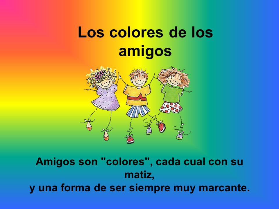Los colores de los amigos