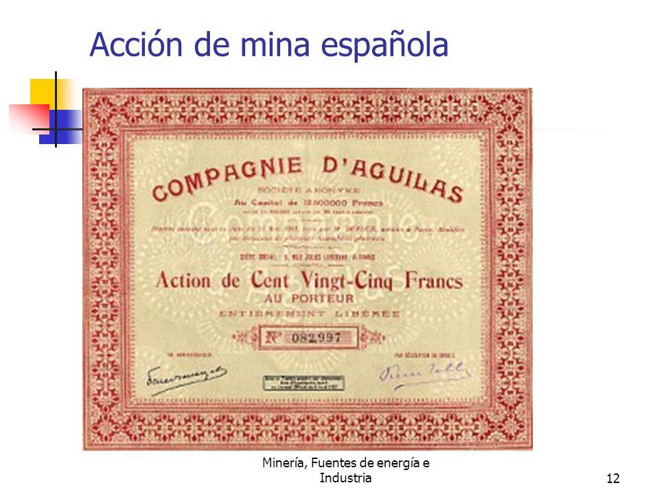 Acción de mina española