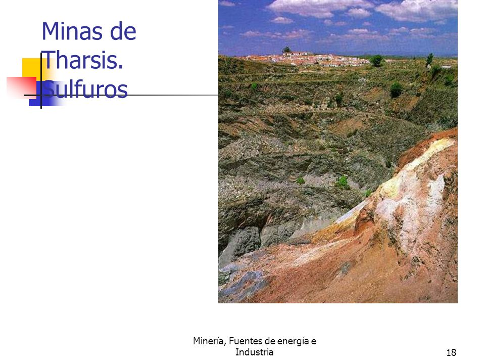 Minas de Tharsis. Sulfuros