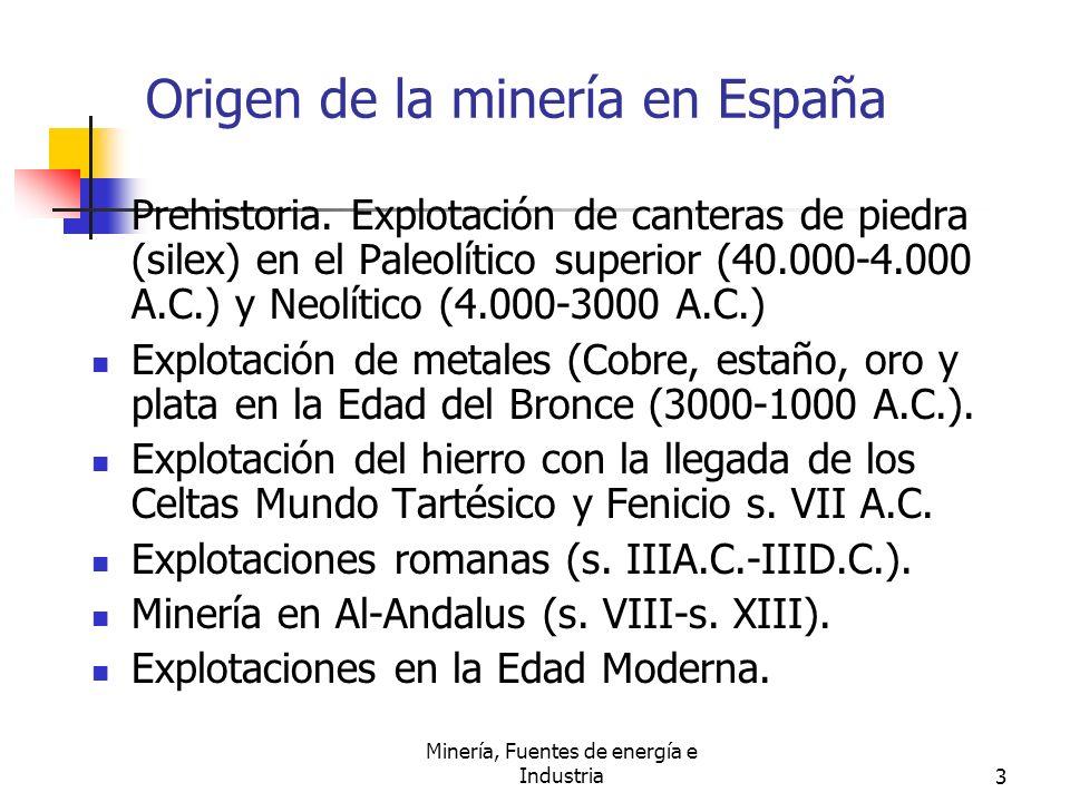 Origen de la minería en España
