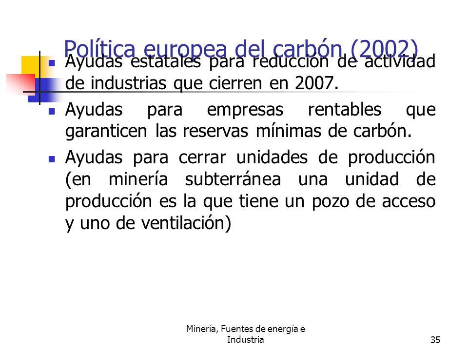 Política europea del carbón (2002)