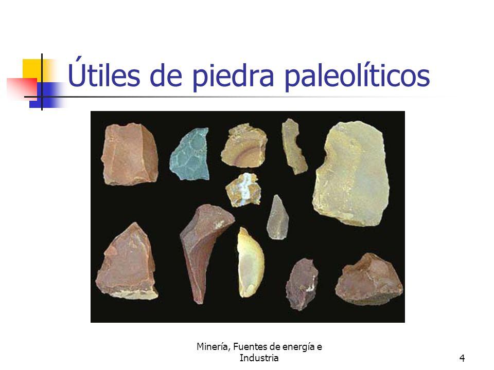 Útiles de piedra paleolíticos