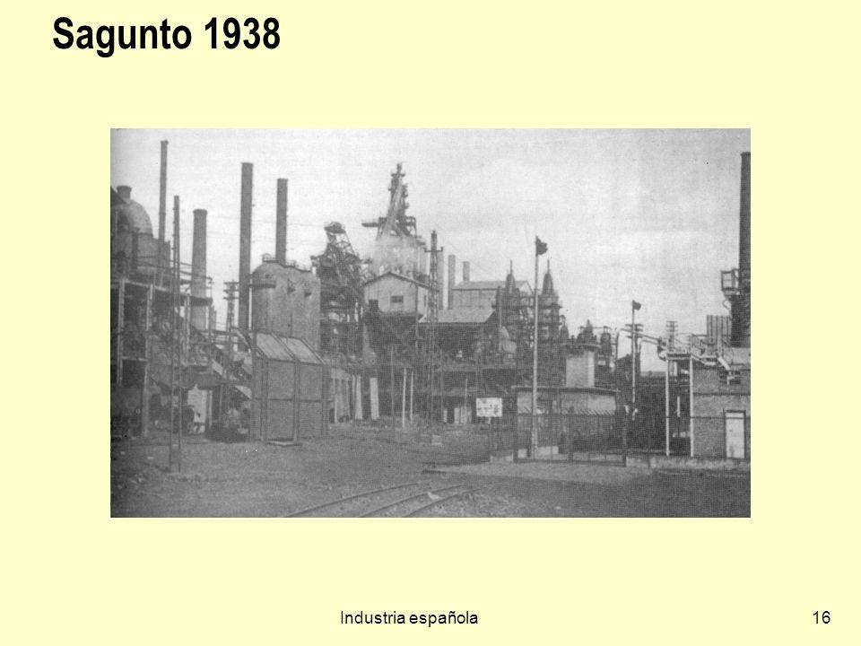 Sagunto 1938 Industria española
