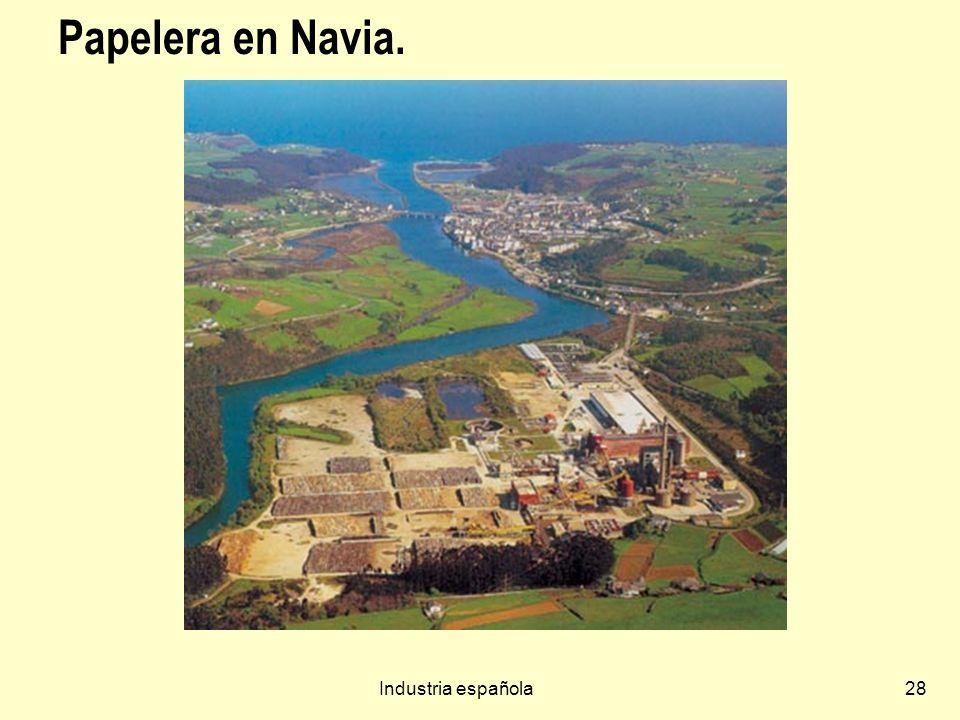 Papelera en Navia. Industria española