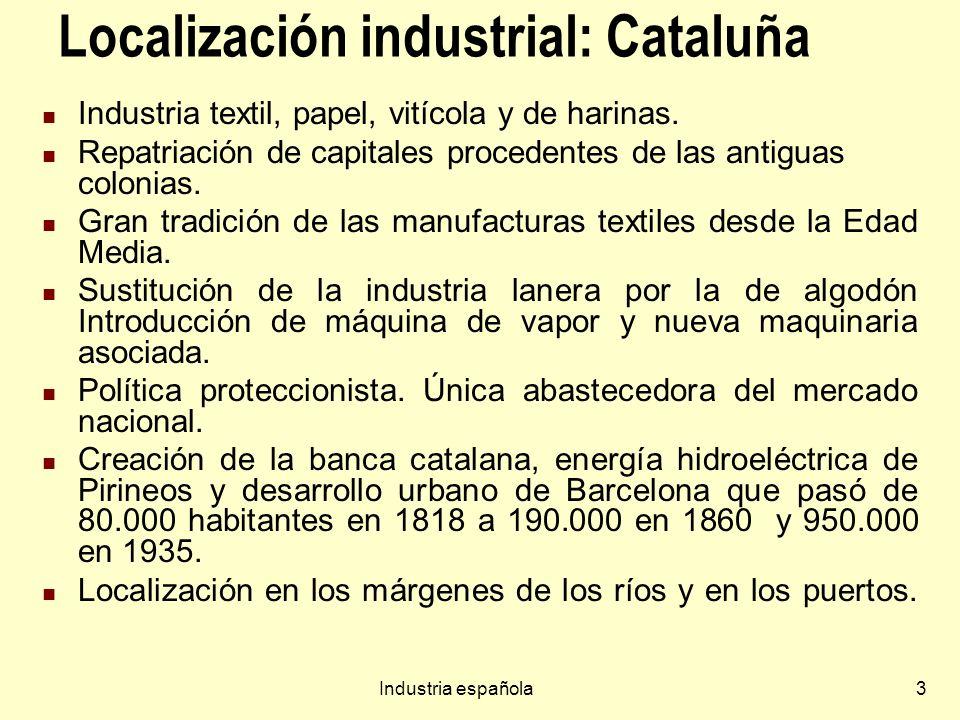 Localización industrial: Cataluña