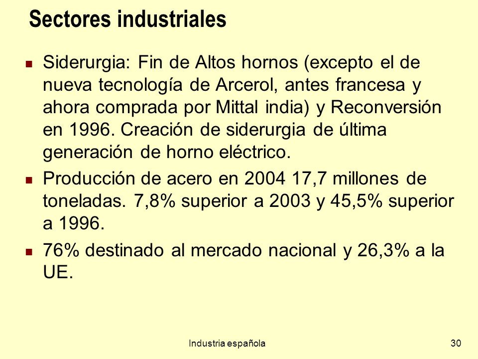 Sectores industriales