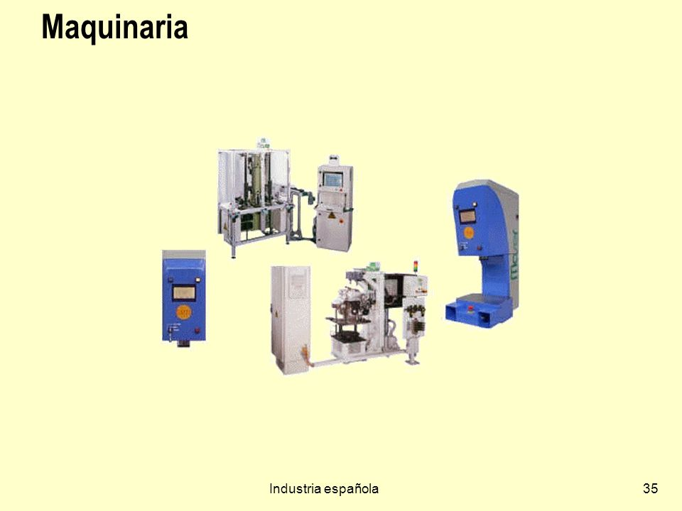 Maquinaria Industria española