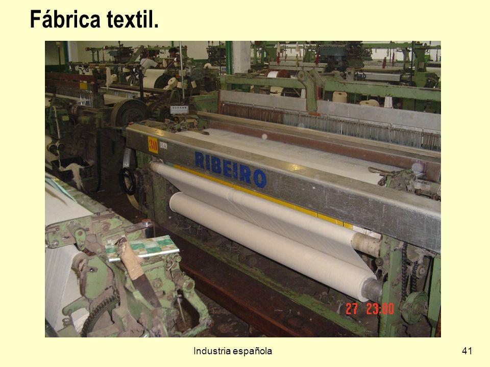 Fábrica textil. Industria española