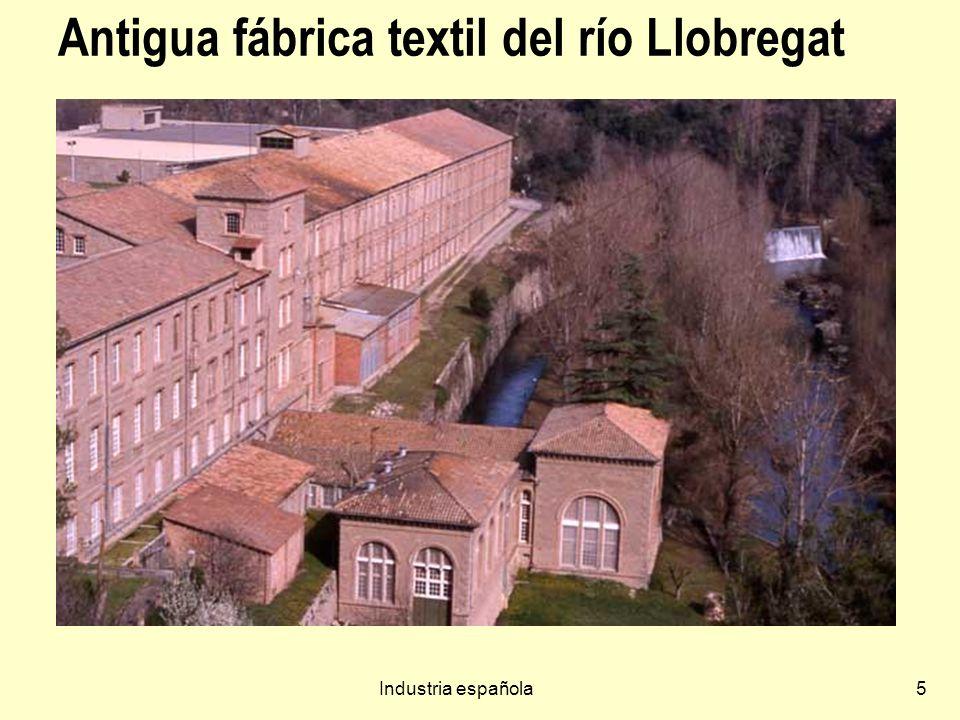 Antigua fábrica textil del río Llobregat