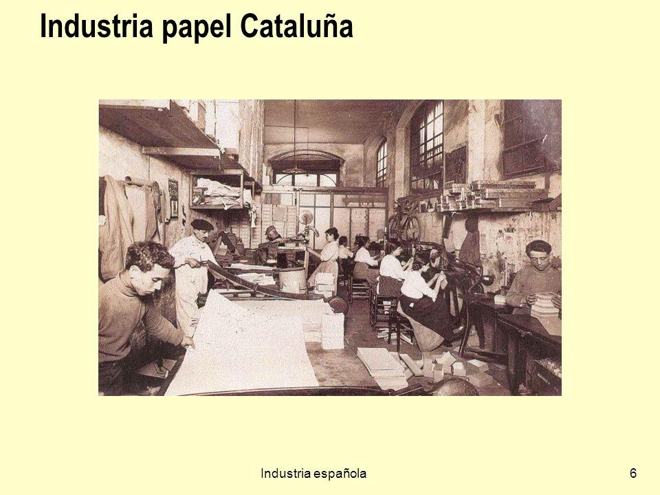 Industria papel Cataluña