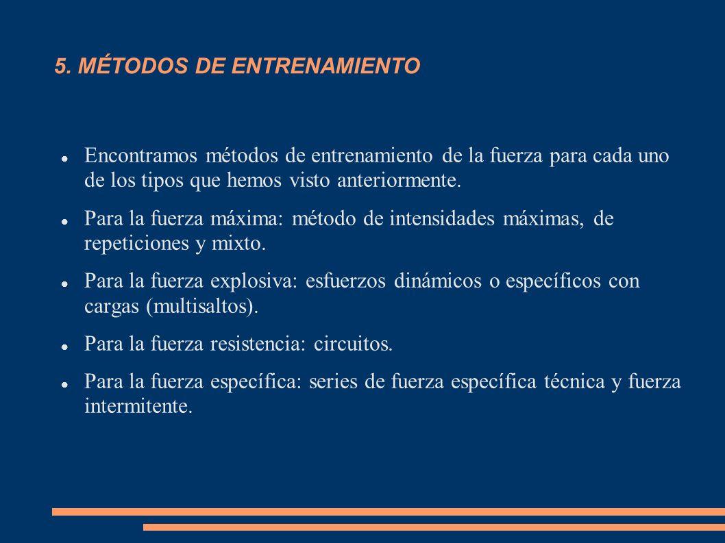 5. MÉTODOS DE ENTRENAMIENTO