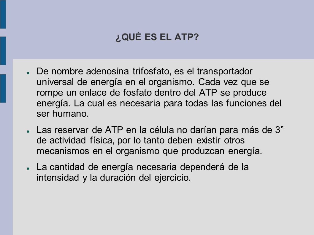 ¿QUÉ ES EL ATP