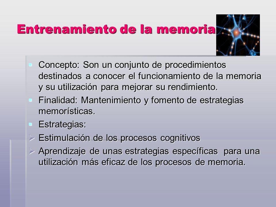 Entrenamiento de la memoria