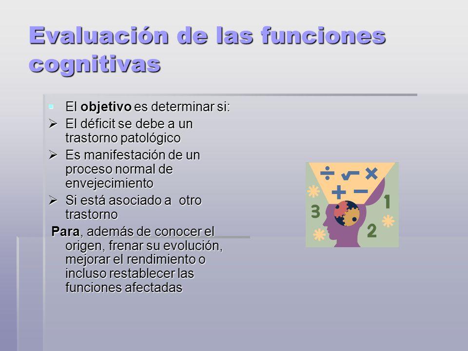 Evaluación de las funciones cognitivas